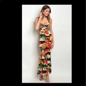 Summer Halter Maxi Dress